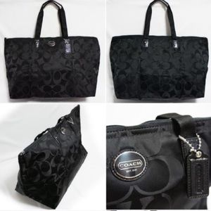 {coach} black weekender tote bag